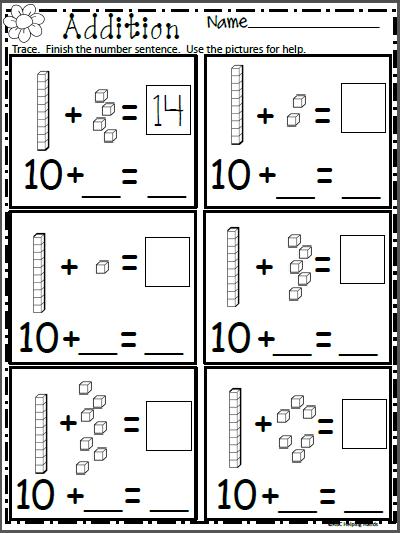 Free Math Addition Worksheet For Kindergarten