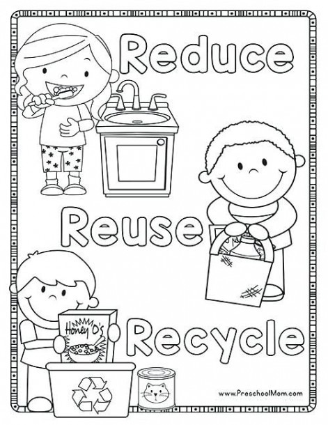 Recycle Coloring Pages Recycling Coloring Books Plus Reduce Reuse