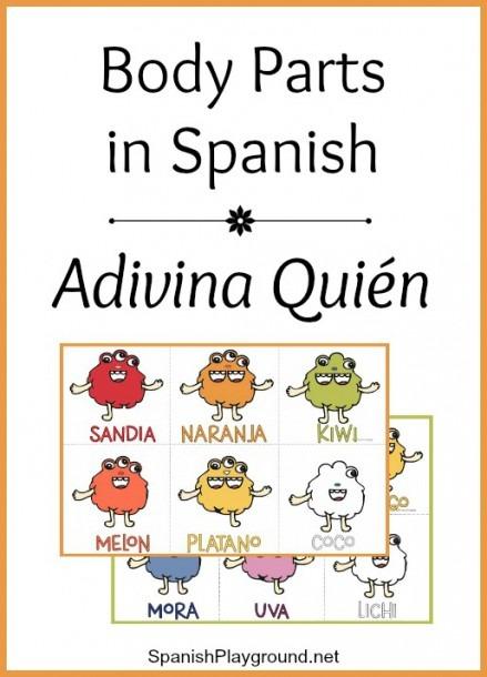 Spanish Body Parts Game  Adivina Qui  N