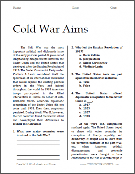 Cold War Aims