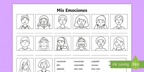 My Emotions Worksheet   Worksheet