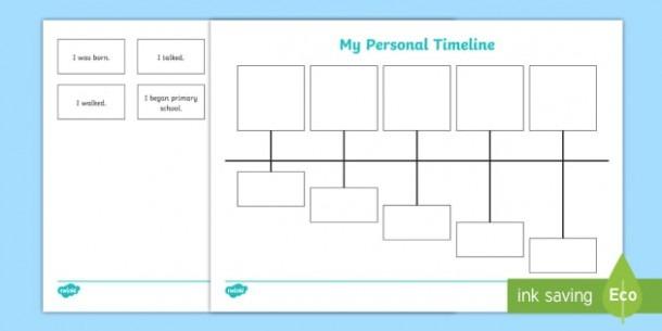 My Personal Timeline Worksheet   Worksheet